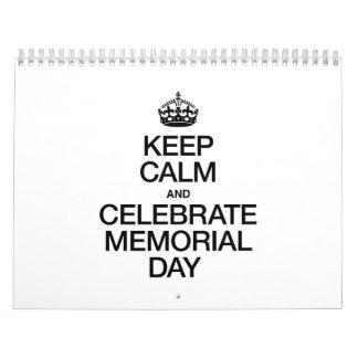 KEEP CALM AND CELEBRATE MEMORIAL DAY CALENDARS