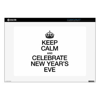 KEEP CALM AND CELEBRATE NEW YEAR'S EVE LAPTOP DECALS