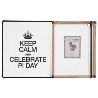 KEEP CALM AND CELEBRATE PI DAY iPad CASE