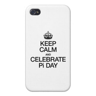 KEEP CALM AND CELEBRATE PI DAY COVER FOR iPhone 4
