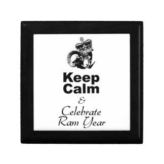 Keep Calm and Celebrate Ram Year 2015 Jewelry Box