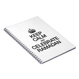 KEEP CALM AND CELEBRATE RAMADAN SPIRAL NOTE BOOK