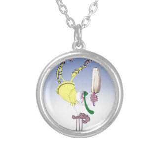 keep calm and celebrate, tony fernandes silver plated necklace