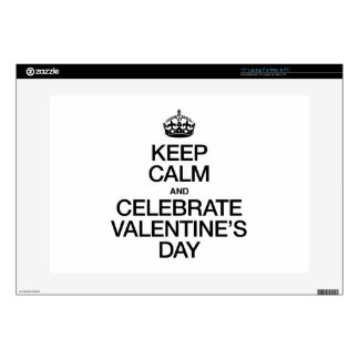 KEEP CALM AND CELEBRATE VALENTINE'S DAY SKIN FOR LAPTOP