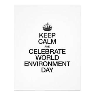 KEEP CALM AND CELEBRATE WORLD ENVIRONMENT DAY FULL COLOR FLYER