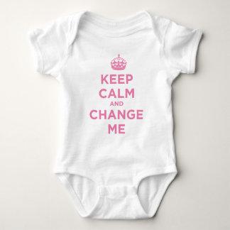Keep Calm and Change Me Baby Bodysuit