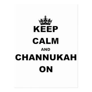 KEEP CALM AND CHANNUKAH ON.png Postcard