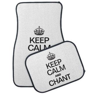 KEEP CALM AND CHANT FLOOR MAT
