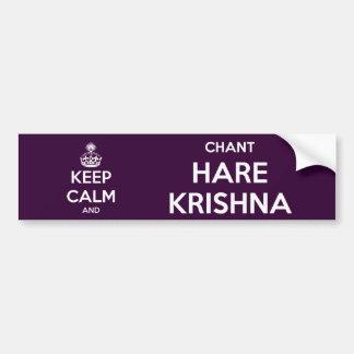Keep Calm and Chant Hare Krishna Car Bumper Sticker