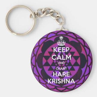 Keep Calm and Chant Hare Krishna Basic Round Button Keychain