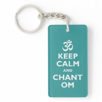 Keep Calm and Chant Om Acrylic Key Chains