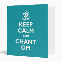 Avery Signature 1' Binder with Keep Calm and Chant Om design