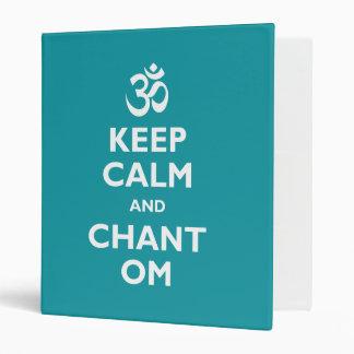 Keep Calm and Chant Om Binder