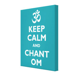Premium Wrapped Canvas with Keep Calm and Chant Om design