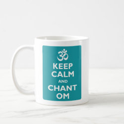 Classic White Mug with Keep Calm and Chant Om design