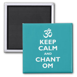 Square Magnet with Keep Calm and Chant Om design