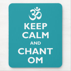 Mousepad with Keep Calm and Chant Om design