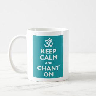 Keep Calm and Chant Om Classic White Coffee Mug