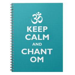 Photo Notebook (6.5' x 8.75', 80 Pages B&W) with Keep Calm and Chant Om design