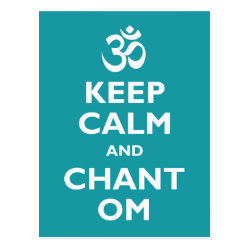 Postcard with Keep Calm and Chant Om design
