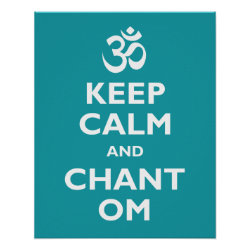 Matte Poster with Keep Calm and Chant Om design