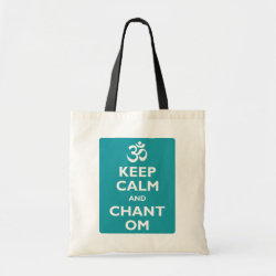 Budget Tote with Keep Calm and Chant Om design