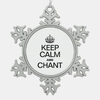 KEEP CALM AND CHANT ORNAMENT