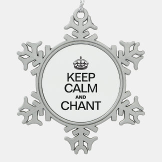 KEEP CALM AND CHANT ORNAMENTS
