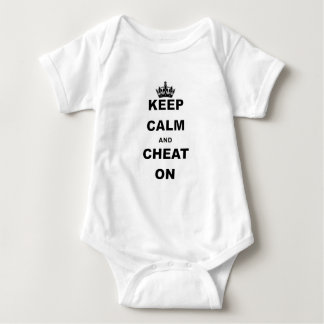KEEP CALM AND CHEAT ON BABY BODYSUIT