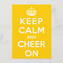 with Keep Calm and Cheer On design