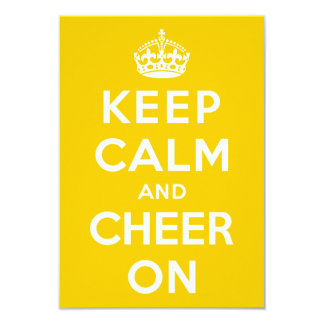Keep Calm and Cheer On 3.5x5 Paper Invitation Card