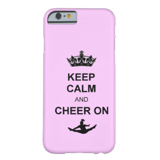 Keep Calm and Cheer on Barely There iPhone 6 Case