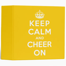 Avery Signature 1' Binder with Keep Calm and Cheer On design