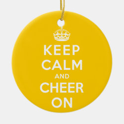 Circle Ornament with Keep Calm and Cheer On design