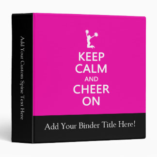 Keep Calm and Cheer On, Cheerleader Pink Binders