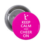 Keep Calm and Cheer On, Cheerleader Pink Buttons