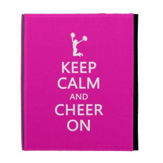 Keep Calm and Cheer On, Cheerleader Pink iPad Case