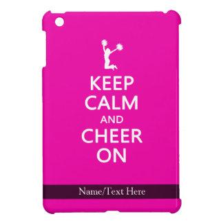 Keep Calm and Cheer On, Cheerleader Pink iPad Mini Case