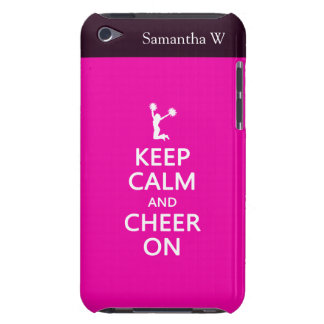 Keep Calm and Cheer On, Cheerleader Pink iPod Touch Case