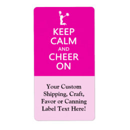 Keep Calm and Cheer On, Cheerleader Pink Label