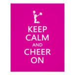 Keep Calm and Cheer On, Cheerleader Pink Print