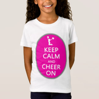 Keep Calm and Cheer On, Cheerleader Pink T-Shirt