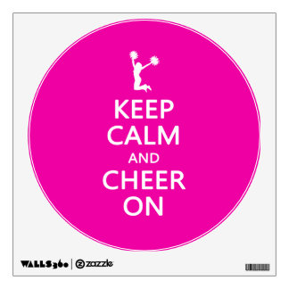 Keep Calm and Cheer On, Cheerleader Pink Wall Decal