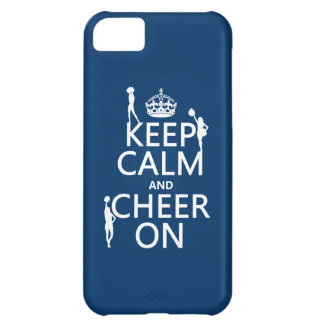 Keep Calm and Cheer On (cheerleaders)(any color) Cover For iPhone 5C