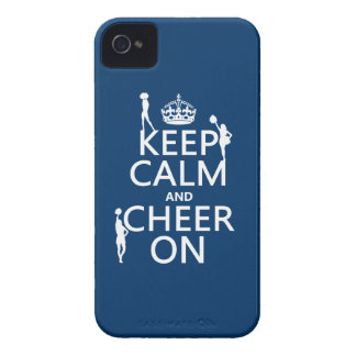 Keep Calm and Cheer On (cheerleaders)(any color) iPhone 4 Case