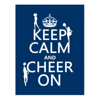Keep Calm and Cheer On (cheerleaders)(any color) Postcard