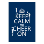 Keep Calm and Cheer On (cheerleaders)(any color) Posters