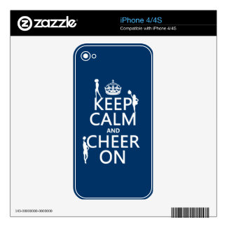 Keep Calm and Cheer On (cheerleaders)(any color) Skin For iPhone 4