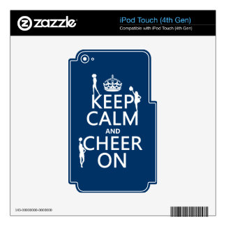 Keep Calm and Cheer On (cheerleaders)(any color) Skin For iPod Touch 4G
