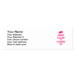 Keep calm and cheer on Double-Sided mini business cards (Pack of 20)